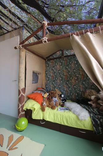 een jungle slaapkamer