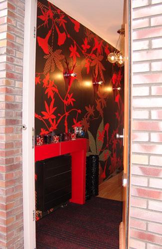 slaapkamer rood met zwart – artsmedia, Deco ideeën