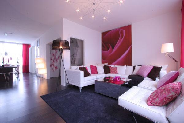 Roze slaapkamer accessoires : mooie roze getinte woonkamer Door liepje