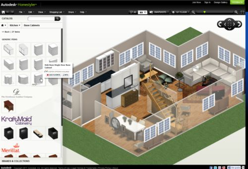 Autodesk homestyler gratis binnenhuisarchitect software for Programma 3d casa