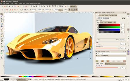 Inkscape gratis vector tekenprogramma for 3d tekenprogramma