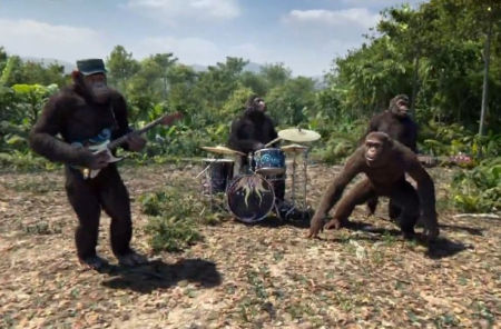 videoclip coldplay apen