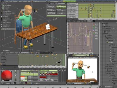 Blender 3d afbeeldingen en animaties maken for Logiciel de creation 3d gratuit francais