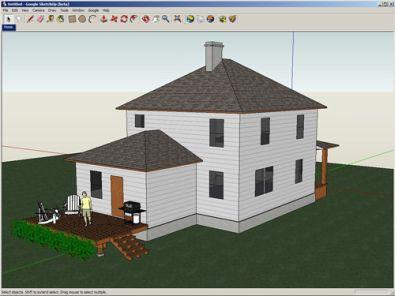 Sketchup gratis 3d tekenprogramma for Huis ontwerpen 3d