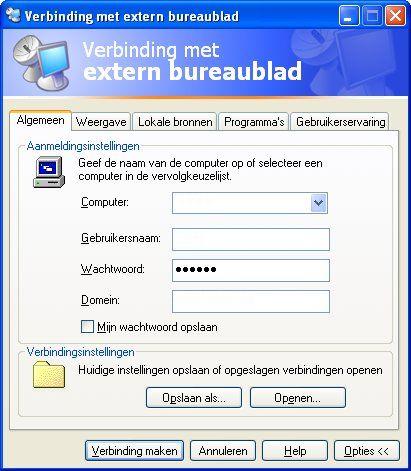 Extern Bureaublad In Windows Xp Fantvnl