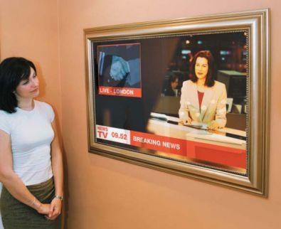 Tv In Spiegel : Der spiegel aus gebogenem glas caadre tv u fiam italia