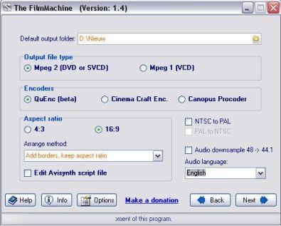 Films op dvd zetten met the filmmachine for Badkamer ontwerp programma downloaden