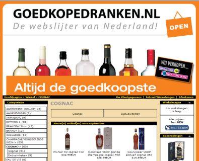 Online drank kopen
