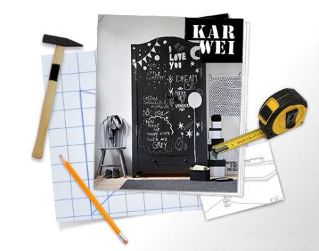 Schoolbordverf De Keuken : Creëer contrast met schoolbordverf