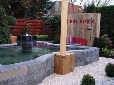 Laat uw tuin leven water in de tuin for Tuin decoratie met stenen