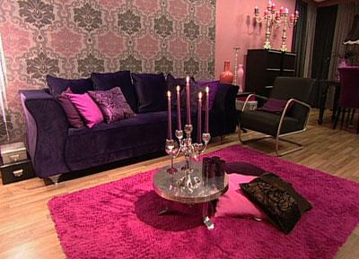 Kleurtrend Roze Interieur : Aubergine kleur interieur