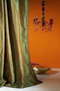 Combineer behang en stof - Oosters stof ...