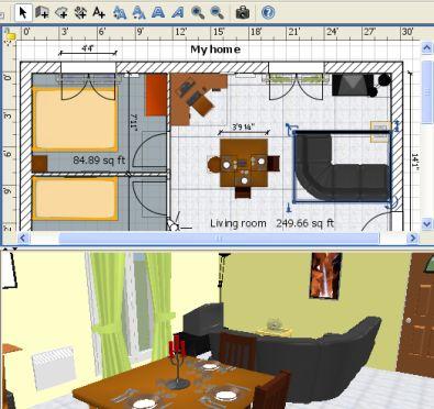 Keuken tekenen software for Huis in 3d ontwerpen
