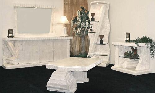 Romantische Slaapkamer Meubelen : Fossielstenen meubelen van Mesh ...